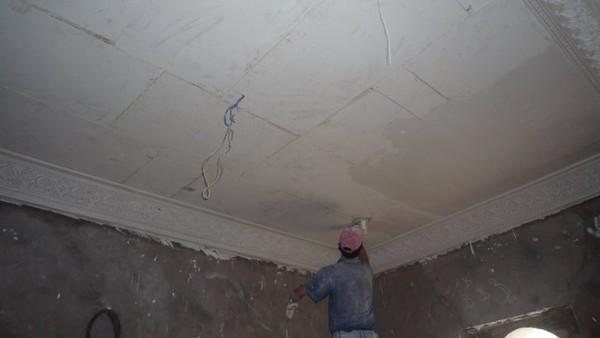 Platre le faux plafond meryem se termine - Faux plafond plaque de platre ...