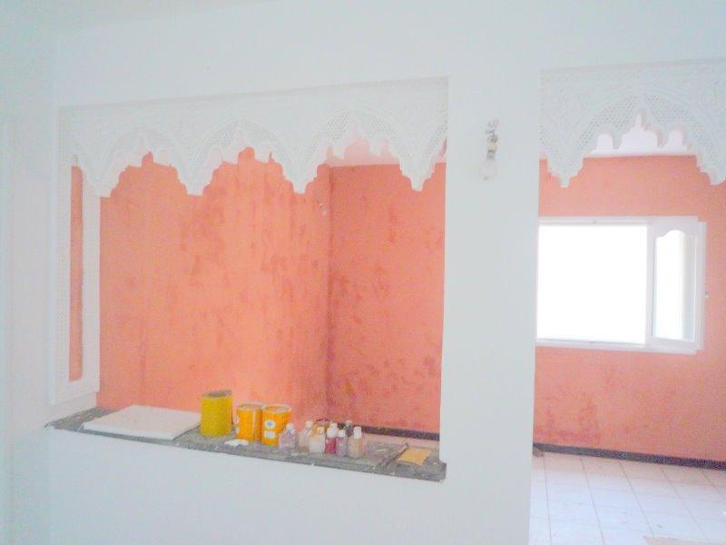 Peinture taddelack revetements muraux page 3 for Peinture salon maroc violet